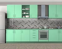 Кухонный фартук на кухню (самоклейка наклейка виниловая пленка скинали для кухни) 60 х 300 см.