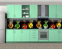 Кухонный фартук Болгарские перцы в воде (самоклейка наклейка виниловая пленка скинали для кухни) 60 х 300 см.