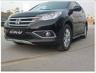 Накладки на бампера Honda CR-V 2012- (передняя и задняя)