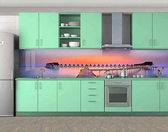 Кухонный фартук на кухню (самоклейка наклейка виниловая пленка скинали для кухни) 60 х 300 см., фото 2