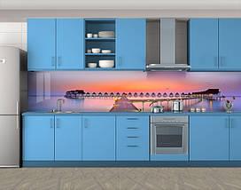 Кухонный фартук на кухню (самоклейка наклейка виниловая пленка скинали для кухни) 60 х 300 см., фото 3
