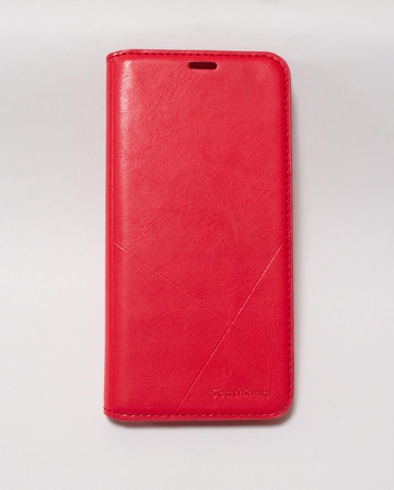 Чехол-книжка для смартфона Huawei Y5 2018 (DRA-L21) красная MKA