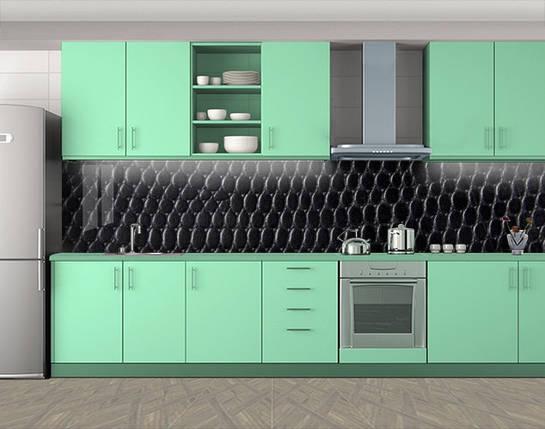 Кухонный фартук на кухню (защитная наклейка виниловая пленка скинали для кухни) 60 х 300 см., фото 2