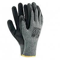"""Защитные перчатки (пена) """"RECODRAG"""" Х/Б серо-черные, Польша"""