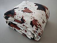 Микрофибровая простынь, плед, покрывало Elway евро Шкура корова