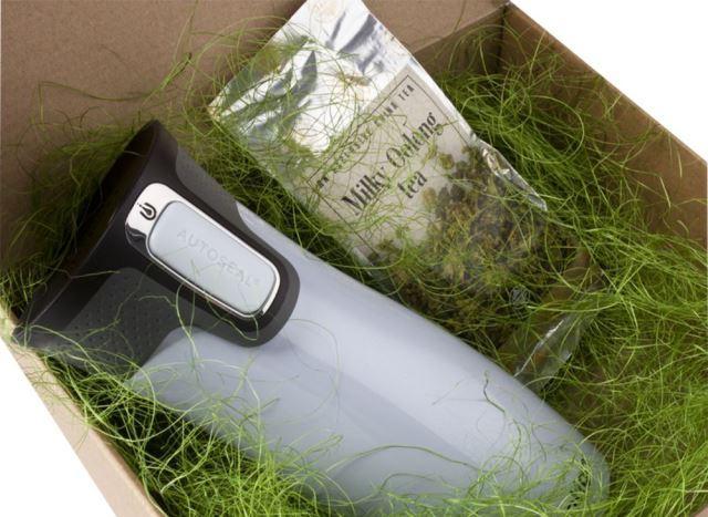 Подарочная коробка с сизалем