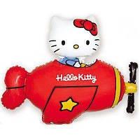 Кітті котик в червоному літаку