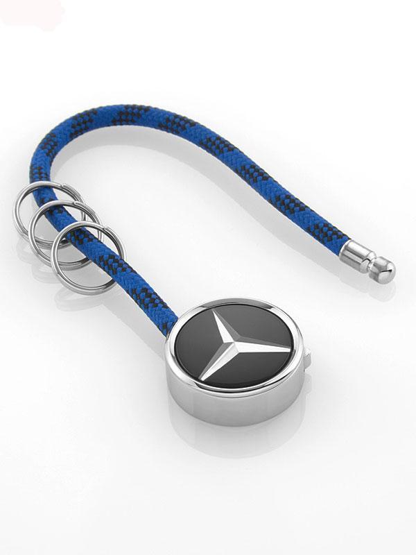 Брелок Mercedes-Benz Key Ring, Mumbai, Black / Silver / Blue, (B66956755)