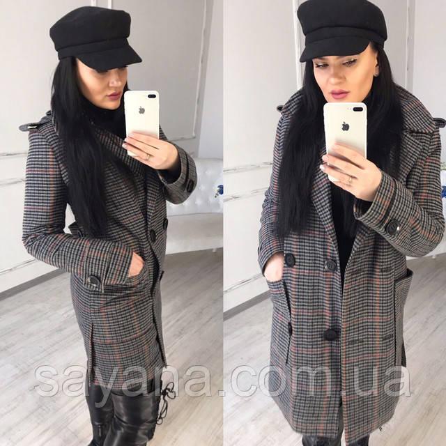 Женское короткое демисезонное пальто