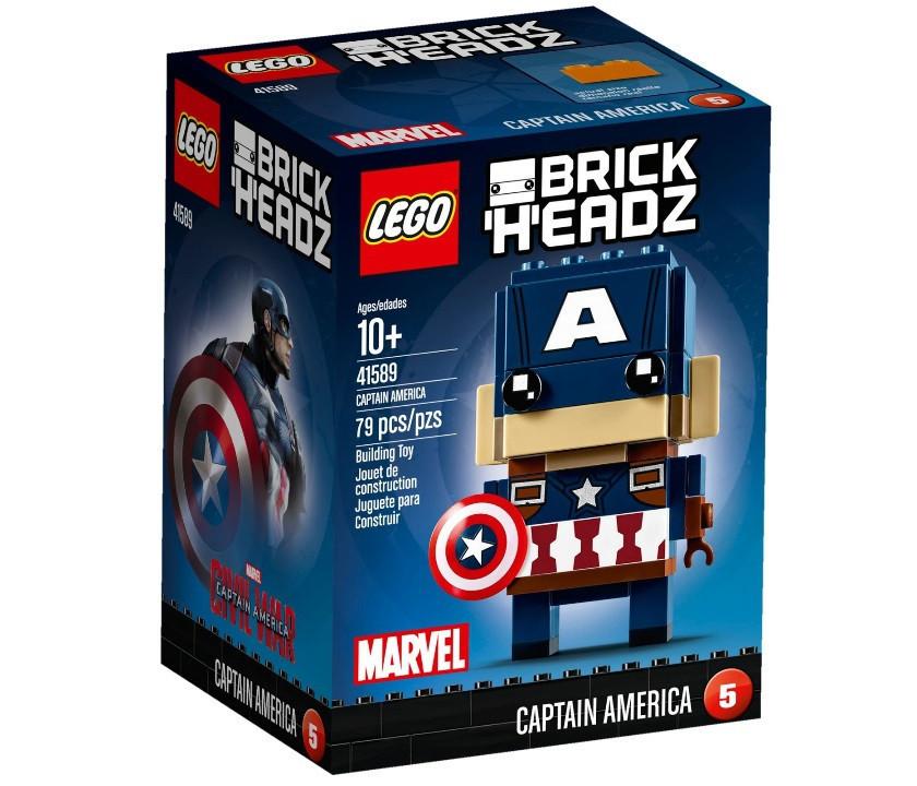Lego BrickHeadz Капитан Америка 41589