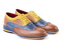 Яркие и запоминающиеся качественные кожаные туфли
