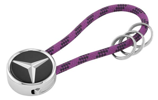 Брелок Mercedes-Benz Key Ring, Mumbai, Black / Silver / Plum, (B66956756)