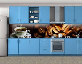 Кухонный фартук Чашка кофе ( Наклейка виниловая пленка скинали для кухни)Самоклейка  60 х 300 см., фото 3