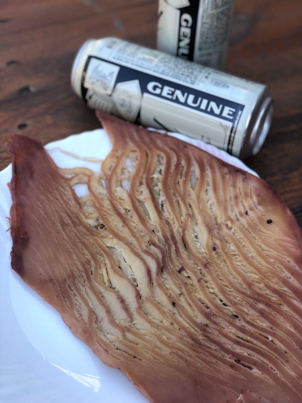 Филе кальмара в арахисовом масле