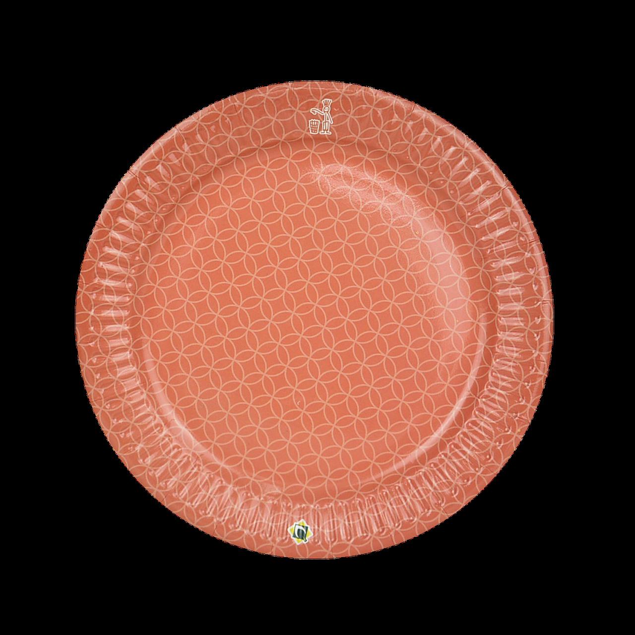 Тарелка картонная Оранжевая  ХТ18 25шт/уп (1ящ/48уп/1200шт)
