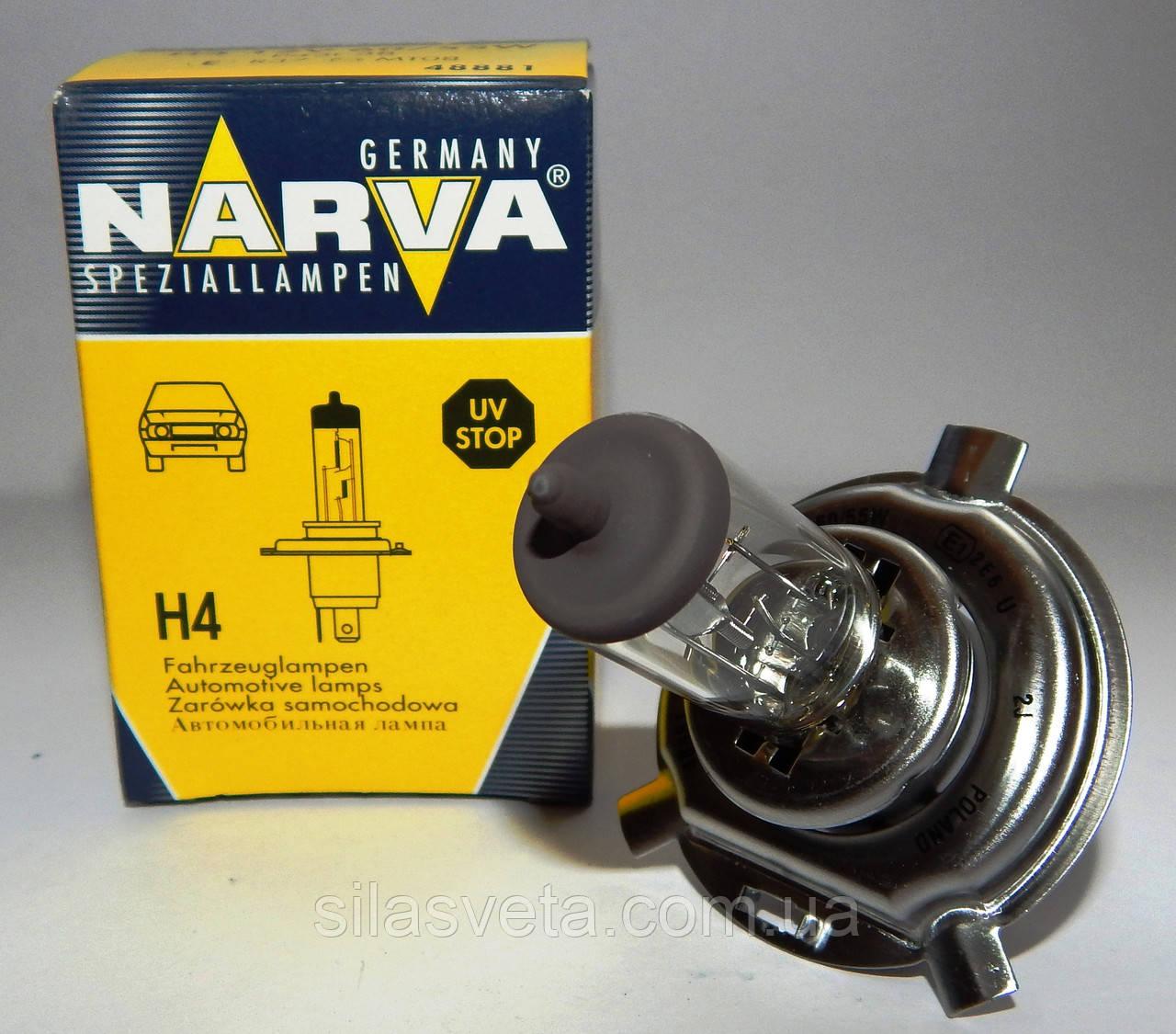 """Автомобильная галогеновая лампа """"NARVA"""" (H4)(12V)(60/55W)"""