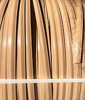 """Штучний ротанг для виготовлення садових меблів Аура сегмент круга 8 мм бухта 5 кг """"КАПУЧИНО"""""""