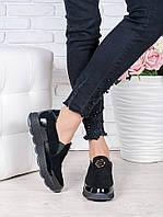 Туфли - лоферы замшевые 7012-28