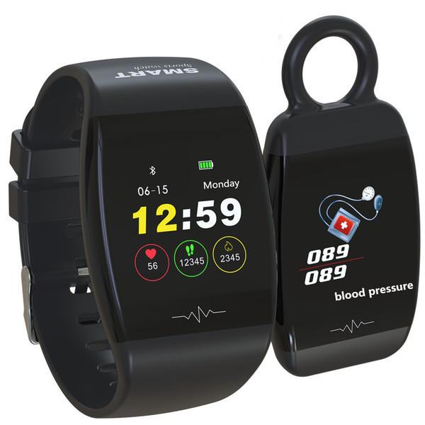 Фитнес часы с возможностью работы в виде брелка Smart Band HP-P1 Black Original