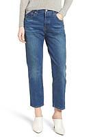 Женские  оригинальные синие укороченные  джинсы Levi's 501