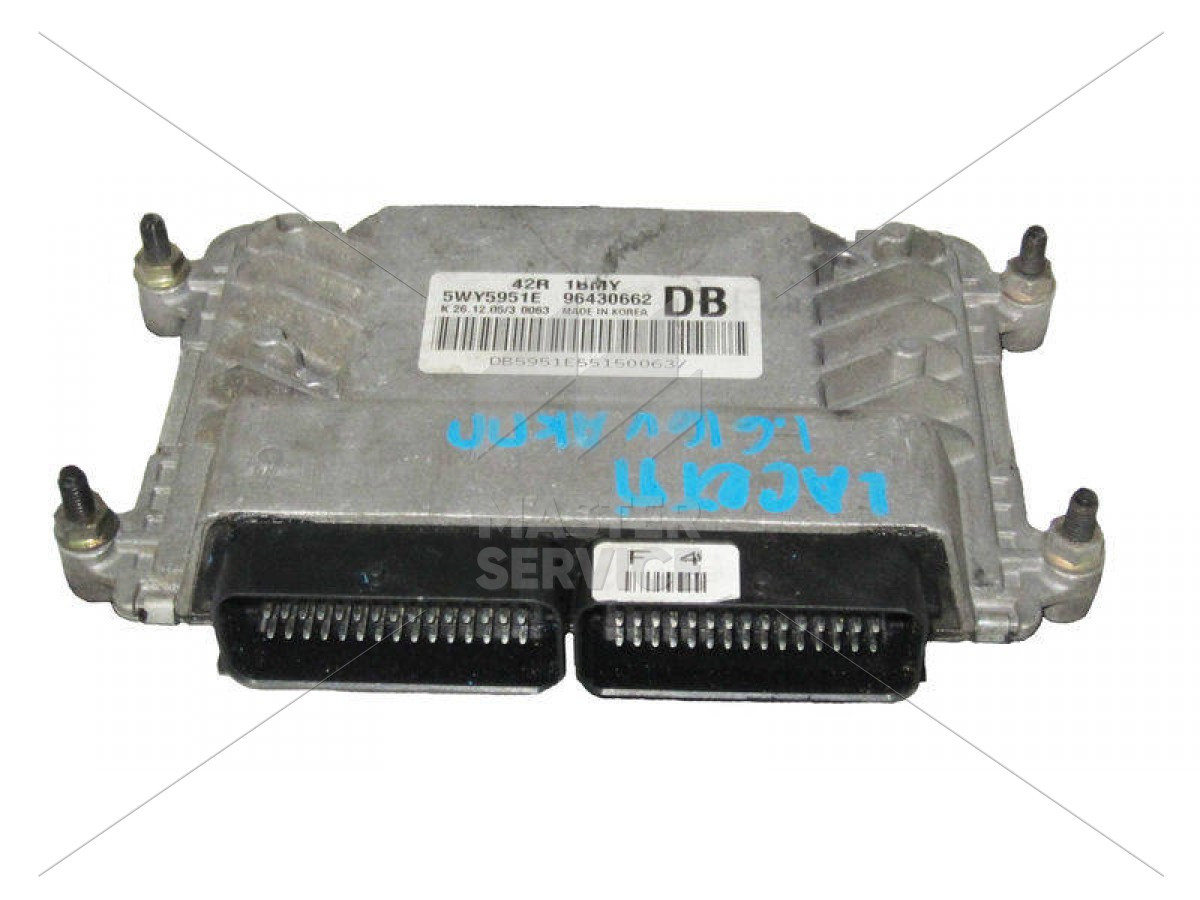 Блок управления двигателем 1.6 для CHEVROLET Lacetti 2004-2010 5WY5951E, 5WY5951G, 96430662