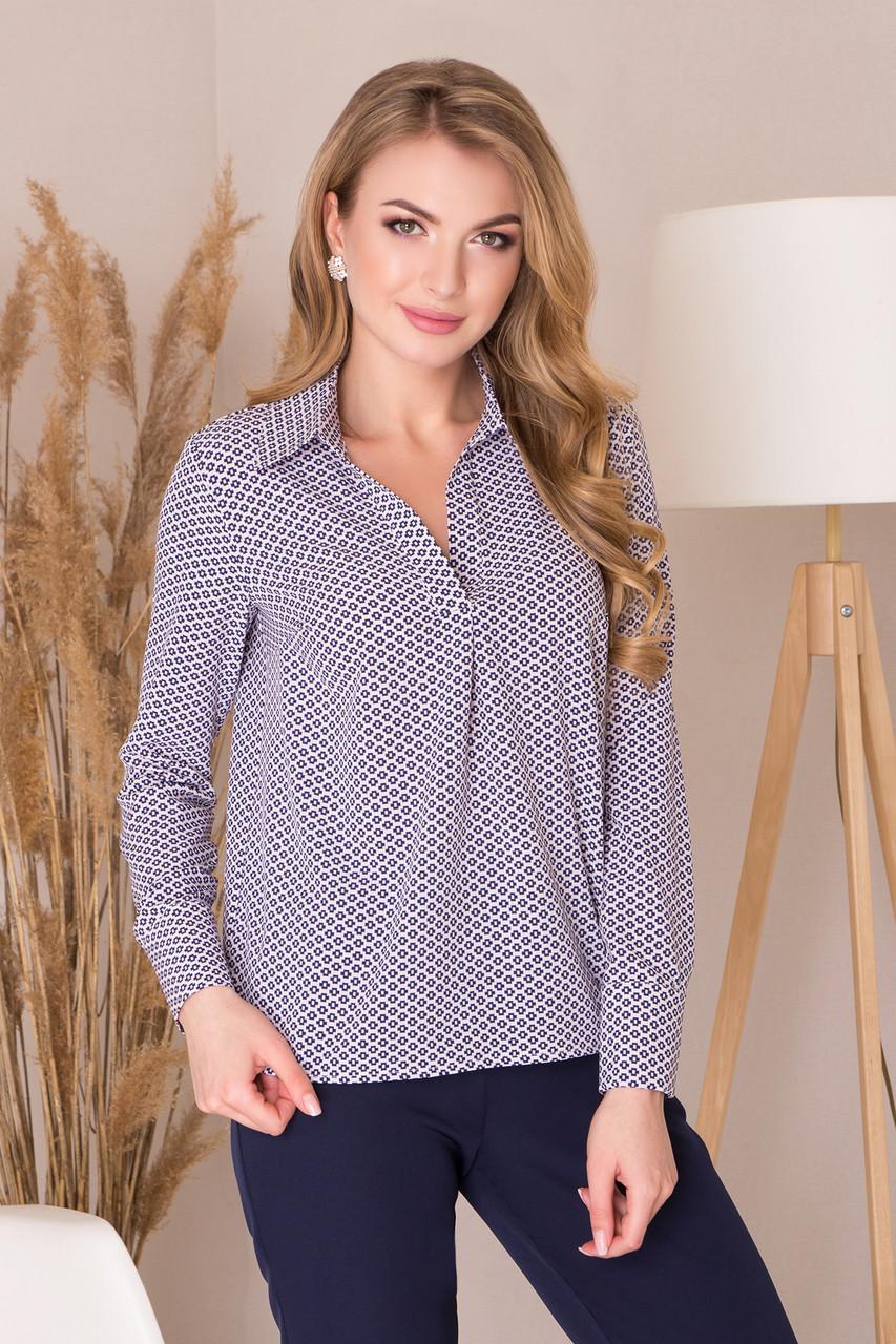 8c8ca5e7d4d Свободная блузка-рубашка с длинным рукавом и удлиненной спинкой