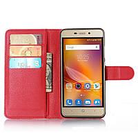 Чехол-книжка Litchie Wallet для ZTE Blade X3 Красный