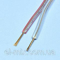 Кабель акуст. CCA прозрачный 2х0,20мм кв. Cabletech KAB0351