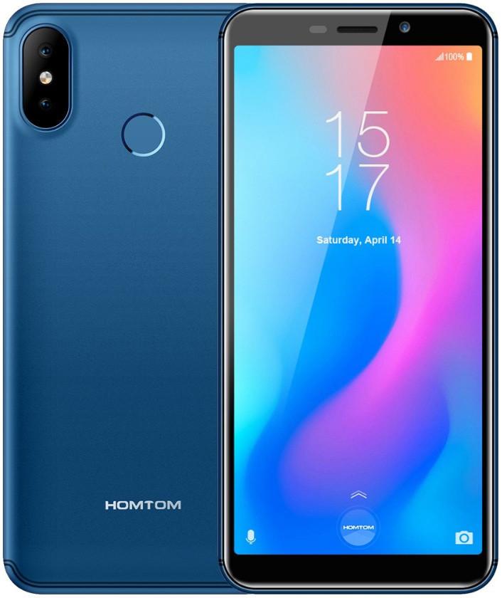"Смартфон Homtom C2 Blue 2/16Gb, 13+2/8Мп, 4 ядра, 2sim, экран 5.5"" IPS, 3000mAh, GPS, 3G, MT6739"