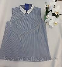 Блуза-безрукавка, синяя полоска