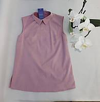 Блуза-безрукавка, розовая