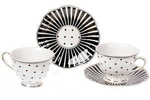 Чайный фарфоровый набор Минималист: 6 чашек 250мл + 6 блюдец 15см (572-150), фото 2