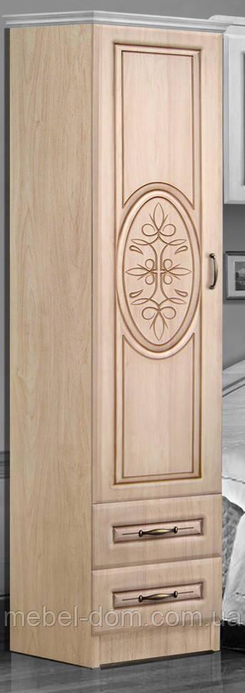Шкаф 400 Василиса с ящиками. Цвет Береза, Яблоня