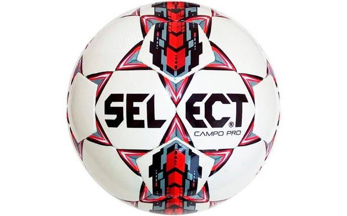 Мяч футбольный №4 SELECT CAMPO-4 CAMPO-PRO-4 (белый-красный), фото 2