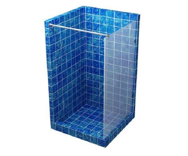 Скляна перегородка для душу 800*1800 сіра