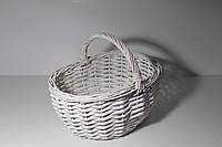 Пасхальная корзинка из натуральной лозы - цвет белый