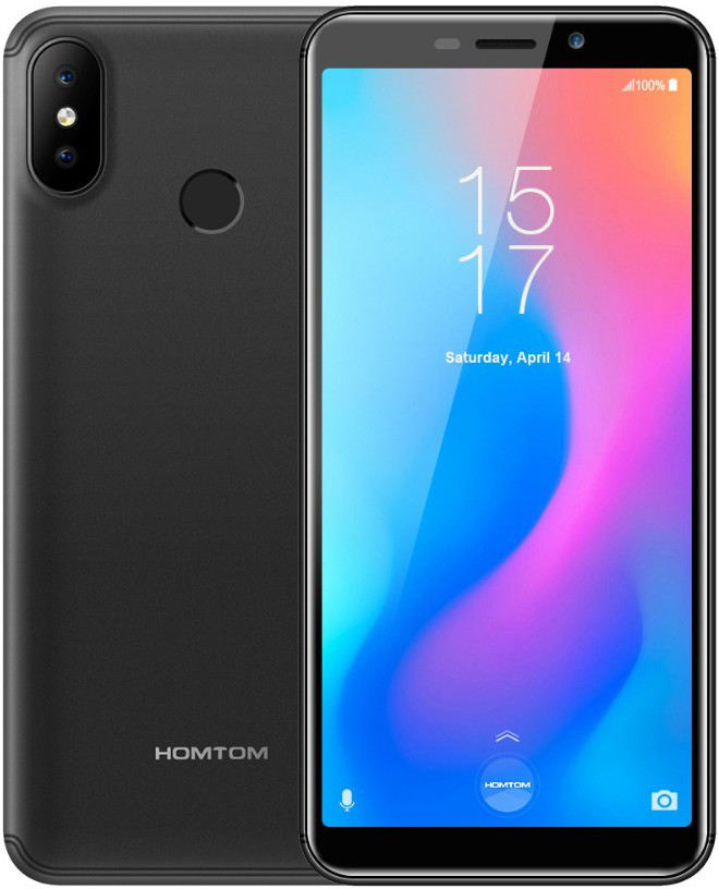 "Смартфон Homtom C2 Black 2/16Gb, 13+2/8Мп, 4 ядра, 2sim, экран 5.5"" IPS, 3000mAh, GPS, 3G, MT6739"
