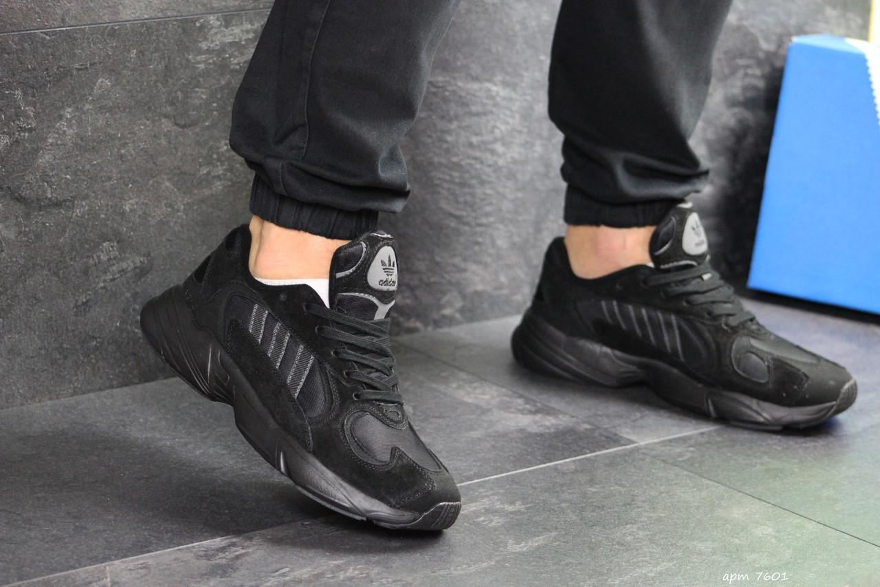 Мужские кроссовки Adidas Yung (черные)