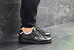 Мужские кроссовки Lacoste (черные) , фото 3