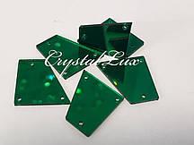 Зеркальные пришивные стразы B1 28*30 Emerald
