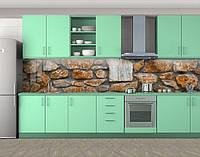 Кухонный фартук на кухню (защитная наклейка виниловая пленка скинали для кухни) 60 х 300 см.