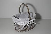 Пасхальная корзинка из натуральной лозы с красивой подкладкой