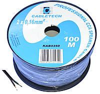 Кабель акуст. CCA черный 2х0,16мм.кв. Cabletech  KAB0350  бухта-100м