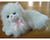 Мягкая игрушка озвученная Кот пушистый лежит 2400-26