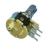 Резистор переменный с выключателем WH160AK-2B    B50K-15KQ  Китай