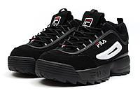Мужские кроссовки в стиле Fila Disruptor 2, черные 42 (26,5 см)