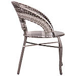 Кресло Catalina (Каталина) ротанг серый, фото 2