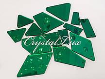 Зеркальные пришивные стразы Микс размеров 30шт Emerald