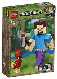 Lego Minecraft Стив с попугаем 21148