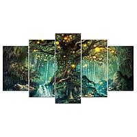 5Шт.ДревоЖизниWallArt Висит Декор Холст Печати Большие Картины Картины Бумаги - 1TopShop